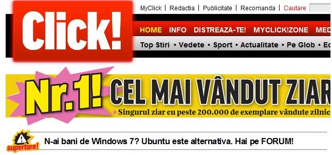 click ubuntu